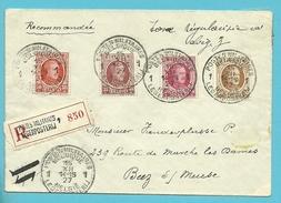 199+201+202+203 Op Brief Aangetekend Met Stempel POSTES MILITAIRES BELGIQUE 1 Op 15/12/27 - 1922-1927 Houyoux
