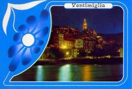 Ventimiglia - Imperia - La Citta Vecchia Di Notte - Formato Grande Viaggiata – E1 - Imperia