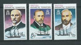 British Antarctic Territory 1973 Polar Explorers & Ship Definitives 4p 6p & 7&1/2p Values MNH - British Antarctic Territory  (BAT)