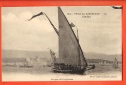 IAT-02  Fêtes Du Centenaire 1915 Genève, Barque Des Confédérés, Voiles Latines.  Non Circulé - GE Geneva