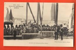 IAT-03  Fêtes Du Centenaire 1915 Genève, Arrivée Des Soleurois, Grenadiers, TRES ANIME.non Circulé - GE Geneva