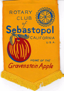 Fanion/Pennon:   SEBASTOPOL.CALIFORNIA.  U.S.A.   * ROTARY CLUB INTERNATIONAL * - Organizations
