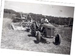 AGRICULTEUR   TRACTEUR  MOISSON  1950.60 ENVIRON 9X6CM - Métiers