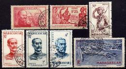 MADAGASKAR 1938-1946  -  Lot 7 Verschiedene  Used - Madagaskar (1889-1960)