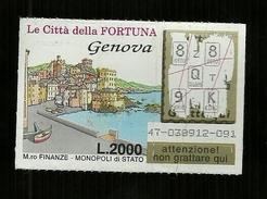 Gratta E Vinci - Le Città Della Fortuna - Genova - Biglietti Della Lotteria