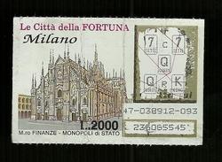 Gratta E Vinci - Le Città Della Fortuna - Milano - Biglietti Della Lotteria