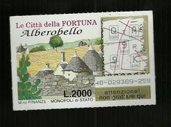 Gratta E Vinci - Le Città Della Fortuna - Alberobello - Biglietti Della Lotteria