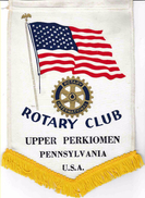 Fanion/Pennon:   UPPER PERKIOMEN.  PENNSYLVANIA.   U.S.A.   * ROTARY CLUB INTERNATIONAL * - Organizations