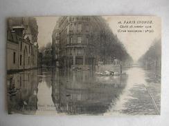 INONDATIONS - PARIS Inondé - Cliché 28 Janvier 1910 - La Seine Au Boulevard Saint Germain Et Rue De L'Université - Floods