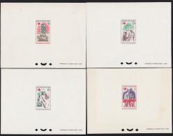 Mali 1965 Red Cross. Set Of 4 Deluxe Proofs . Scott 77-80. Yvert 79-82. - Mali (1959-...)