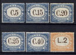 San Marino 1934 Segnatasse Sass.S54/59 **/MNH VF - Portomarken