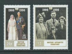 British Antarctic Territory 1990 Queen Mother Set Of 2 MNH - British Antarctic Territory  (BAT)