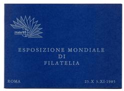 """REPUBBLICA 1985 , Il Foglietto Ed Il Cartoncino Per """" ITALIA 85 """"  Nuovo ***  Sassone N. 22 - 6. 1946-.. Repubblica"""