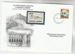 1994 Cassino ITALY Special COVER Anniv WWII MONTE CASSINO ABBEY BOMBING Event Stamps Aviation Mountain Church - Seconda Guerra Mondiale
