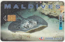 MALDIVES ISL. - Sting Ray, CN : 274MLDGIB, Used - Maldives