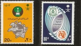 Saudi Arabia 1983 World Communication- 2 Values MNH UPU - Vereine & Verbände