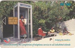 MALDIVES ISL. - Girl On Phone Booth, CN : 301MLDGIA, Used - Maldives