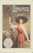 Télécarte Japon / 110-016 - POSTER - Femme & Montre Gousset LONGINES FRANCE - Girl Woman & Watch Japan Phonecard - 2622 - Pubblicitari