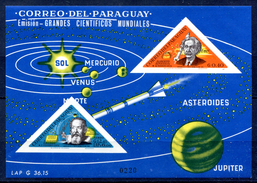 Paraguay 1964 Space Galileo Galilei Einstein Imperf SS MNH**VF