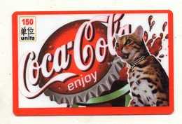 CARTE PREPAYEE TELEGOLD *150  Coca Cola  (origine Inconnue) - Unknown Origin