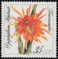 GERMAN DEMOCRATIC REPUBLIC - Scott #2774 Epiphyllum Hybrid / Mint NH Stamp - Cactusses
