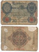 Alemania - Germany 20 Mark 1910 7 Nºs Pick 40.b Ref 62 - [ 2] 1871-1918 : German Empire