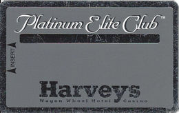 Harvey's Casino - Central City, CO - Slot Card - Platinum Elite Club (BLANK) - Casino Cards