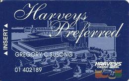 Harvey's Casino - Council Bluffs, IA - Slot Card - CPICA 25324 Over Mag Stripe