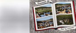 CPSM DENTELEE Multivues  SOUVENIR DE PREZ SOUS LAFAUCHE( L'eglise ,la Place, La Route Nationale,le Cul Du Cerf Ecrite - France
