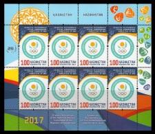 Kazakhstan 2017 Mih. 1008 National Olympic Committee. Tennis. Boxing. Cycling. Golf. Hockey MNH ** - Kazachstan