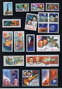 Space Collection 22 X MNH - Spaceship, Rocket, Cosmonauts... WW, Russia