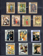 Art Collection 13 X MNH Goya Manet Degas Reynolds - Famous Painting South Arabia
