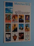 MÜNCHEN 1972 ( Zie Foto Voor Details ) !! - Jeux Olympiques