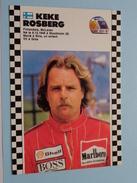 KEKE ROSBERG Finland / Mc Laren 1986-1987 Champion( 6.12.1948 Stockholm ) ( Zie Foto Voor Details ) !! - Grand Prix / F1
