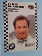 ELIO DE ANGELIS Italy / Brabham 1986-1987 Champion ( 20.3.1958 Rome ) ( Zie Foto Voor Details ) !! - Grand Prix / F1