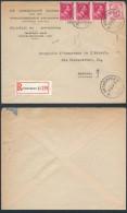 AK624 Lettre Privée Recommandée De Anvers 11 à Anvers 9 1944 - Belgique