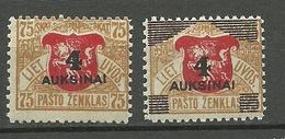 LITAUEN Lithuania 1922 Michel 116 - 117 * - Litouwen