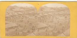 PHOTO Stereo ANCIENNE PARIS FETE A MONTMARTRE - Fotos Estereoscópicas