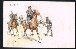 MILITARIA- Illustrateur C.BECKER-   Der Harttraber - Scans Recto Verso -Paypal Sans Frais - Regimente