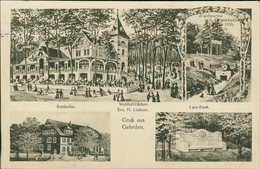 AK Gehrden, Ratskeller, Waldschlößchen, Lyra-Bank, O 1915 (1501) - Germany