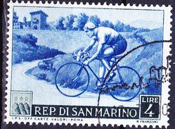 San Marino - Sport Radfahren (MiNr: 496) 1953 - Gest Used Obl   !!lesen/read/lire!! - San Marino
