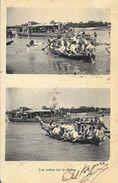 Les Joutes Sur Le Rhône En 1903 - La Chute, Multivues (2 Vues) - Carte Dos Simple - Postcards