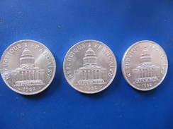 LOT DE 3 PIECES DE 100 Francs PANTHEON -  1982 - N. 100 Francs
