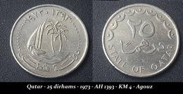 Qatar - 25 Dirhams - 1973 - AH 1393 - KM 4 - Agouz - Qatar