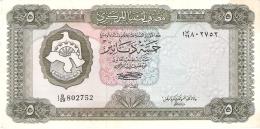 LIBYE   5 Dinar   ND (1972)   P. 36b   Sign.1 - Libye