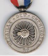 Médaille  Des Cheminots   Favre _Bertin - Organizations