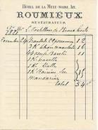 1881 - AIX-en-PROVENCE (13) - HÔTEL DE LA MULE NOIRE - ROUMIEUX, Restaurateur - - Documents Historiques