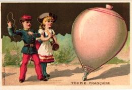6 Trade Cards PUB Au Quatre Saison Imp Lessertisseux  Toupie Française Ronflante Sabot Allemagne Japonaise SPINNING - Autres