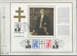 CEF N°1 CFA HOMMAGE AU GENERAL DE GAULLE AMELIORE PAR CACHET EXPOSITION DE GAULLE A HUPPY 1972 RARE - De Gaulle (General)