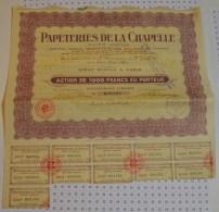 Papeteries De La Chapelle - Industrie